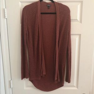 Express Thermal Knit Rust Orange Cover up Cardigan
